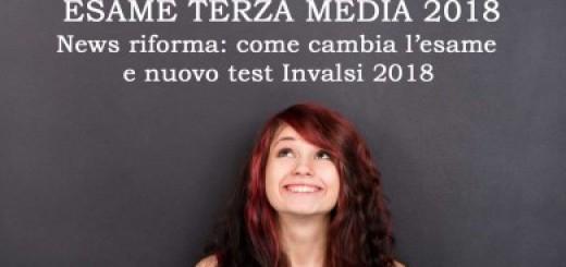 Esami Terza Media 2018