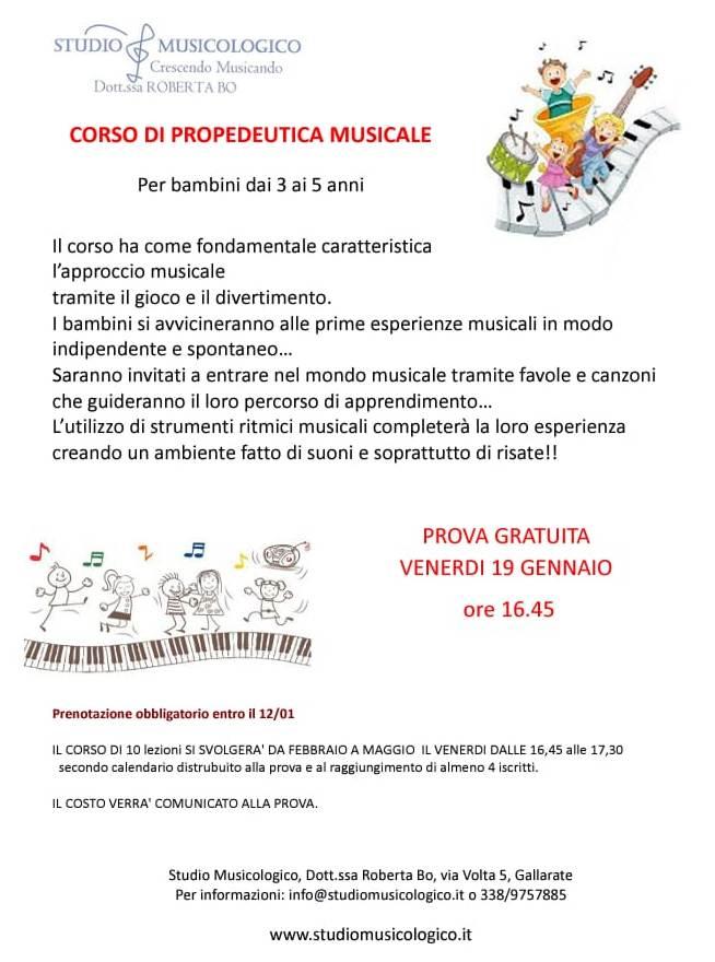 CORSO DI PROPEDEUTICA MUSICALE: INCONTRO GRATUITO
