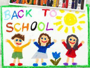 disegno-parola-di-nuovo-alla-scuola-ed-ai-bambini-felici-primo-giorno-al-banco-98544931-1-300x225